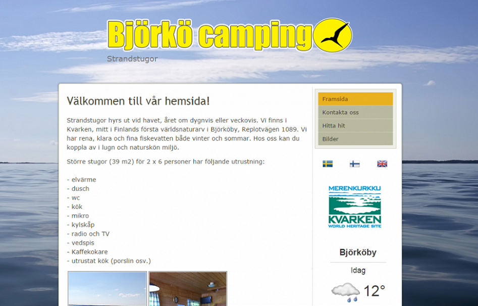 Björkö camping - Website