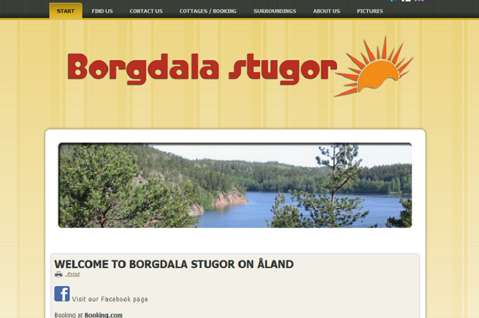 Borgdala stugor - Website