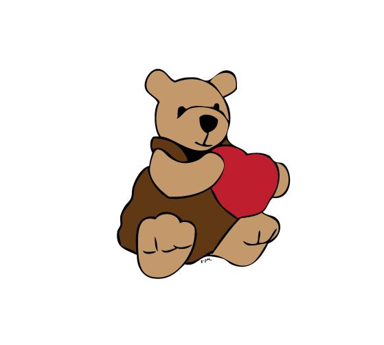 Bear - postcard