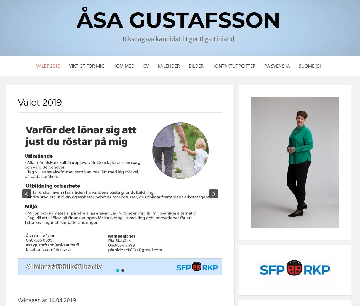 asa-sfp.fi - Website